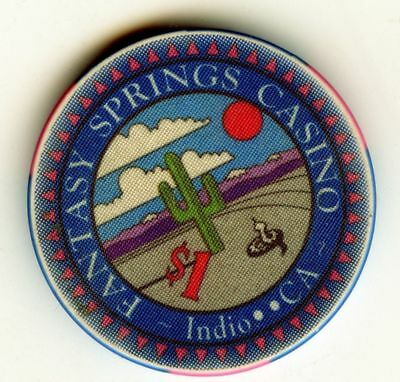 California 1.00 Casino Poker Chip: Fantasy Springs Casino; Indio