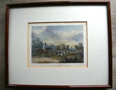 Jagd Hunting Stahlstich  England