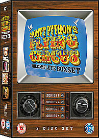Monty Python's Flying Circus - Series 1-4 - Complete (DVD, 2008, 8-Disc Set, Box