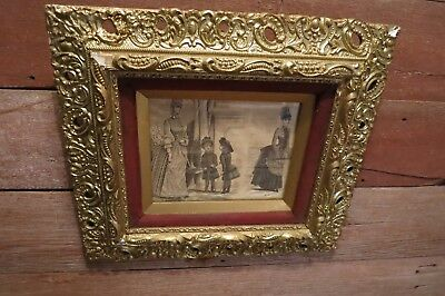 Vintage Early 1900's Ornate Gold Gilt Wood Picture Art Frame!
