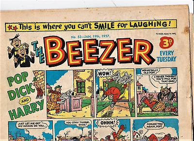 The BEEZER #53 January 19th 1957 Comic issue