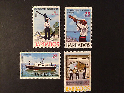 BARBADOS - 1967 - 100 Years of Harbour Police - SET - SG271 to SG281 - UMM