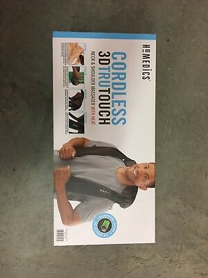 NEW Homedics Cordless 3DTRUTouch Neck Back & Shoulder Massager with Heat Massage