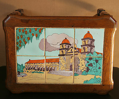 Vintage 1920s Taylor Tilery Santa Barbara Mission Tile Top Table