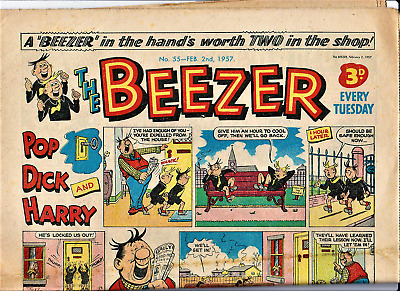 The BEEZER #55 February 2nd 1957 Comic issue