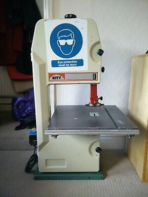 Kity 613 Bandsaw - referbished wheels, 4 blades, 240v band saw