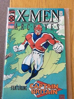 X-Men Archives Ft Captain Britain - Issues 1 To 5 & 7