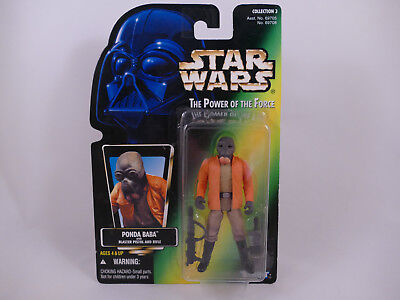 Pg1 Star Wars Potf2 Ponda Baba Grey Beard Collection 3 Vhtf Picture Card Moc