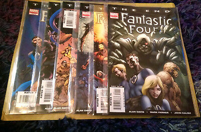 Fantastic Four: The End (2007) FULL SET 1 - 6, MINT, Marvel Comics MODERN AGE