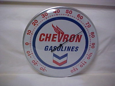 "Chevron 12"" Round Thermometer"