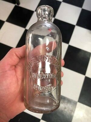 Chas. W. French Anaconda Montana MONT Hutchinson Style Soda Bottle Nice