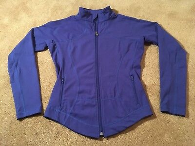 LULULEMON Athletica Womens Blue Fitted Zip Yoga Stretch Top Shirt EXTRA SMALL XS