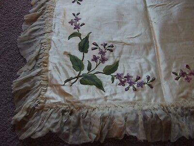 antique hand painted cushion cover textile
