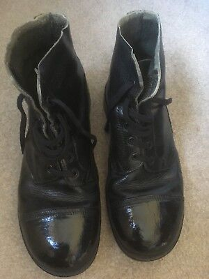 British Army DMS Ankle Boots 8 L 1980 Leather Black Parade