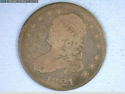 1821 Capped Bust Quarter, See Photographs.