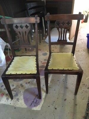 set of six antique chairs victorian by W Walker & sons