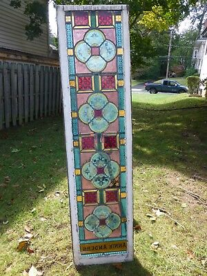 Antique Vintage Stained Glass Window