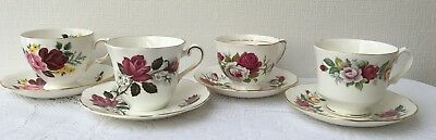 Beautiful Lot of  'Roses' Tea Party Collection/Tea Cup & Matching Saucers  (997