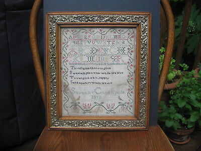 Antique Early 19th Century Sampler dated 1818