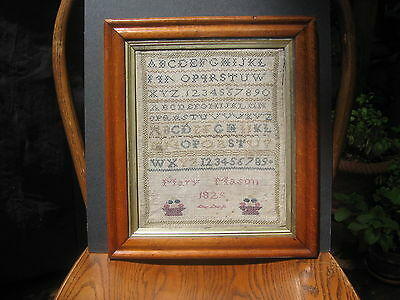 Antique Early 19th Century Sampler dated 1828