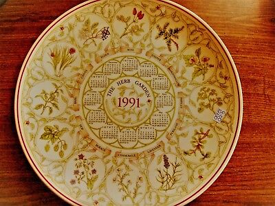 Wedgwood Calendar Plate The Herb Garden 1991