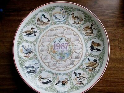 Wedgwood Calendar Plate British Water Birds 1987