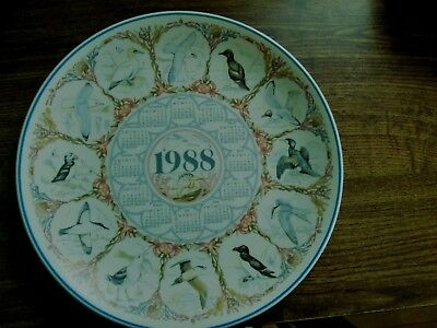 Wedgwood Calendar Plate British Sea Birds 1988