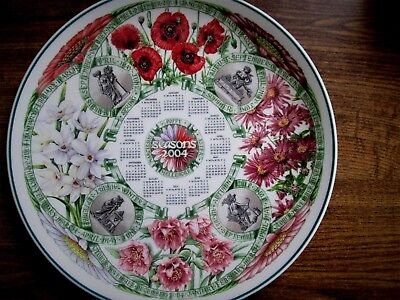 Wedgwood Calendar Plate Seasons Flowers 2004