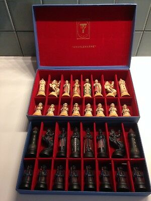 ANRI Toriart Charlemagne CHESS SET Made in Italy Decorative Vintage Collectibles