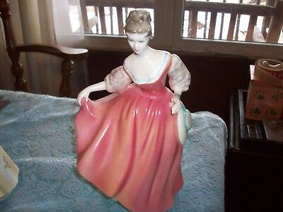 Royal Doulton Figurine   Fair Lady   8 Inches    Pink Dress