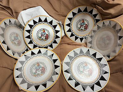 "Set of 6 Warner Bros 1992 Foghorn Leghorn Looney Tunes 9.5"" Dinner Plates"