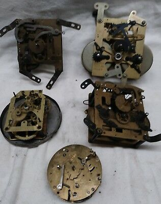 Assortment Of Mechanical Clock Movements For Partd Or Restoration