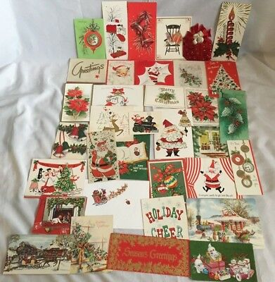Vintage Mid Century Christmas Card Lot Of 200
