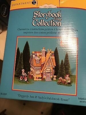 Raggedy Ann Andy Storybook Village Collection Dept. 56 Patchwork House Nib New