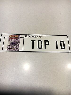 Summernats 7 Top 10 Number Plates