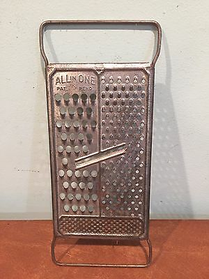 "Antique Vintage Kitchen ""All in One"" Cheese Grater Slicer"