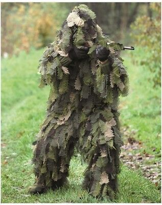 GHILLIE SUIT OAK LEAF 3D 3PC WOODLAND Tarnanzug Gr. XS-2XL Tarnung Overall