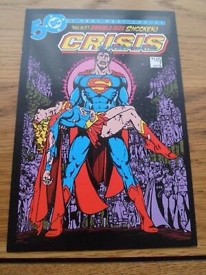 Superman Post Card. Crisis On Infinite Earths.  DC Comics
