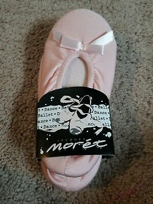 Girls Dance Slippers Labeled M 10-13 Pink