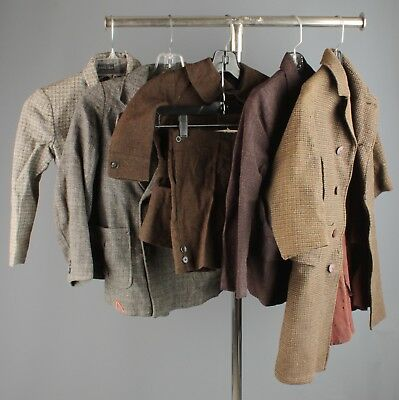 Vtg Boy's 1920s 1930s Clothing Lot of 6 Belted Back Jackets Coats 20s 30s #4498