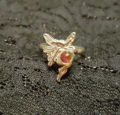 WOMENS GIRLS VINTAGE silver fairy adjustable RING! LOVELY!