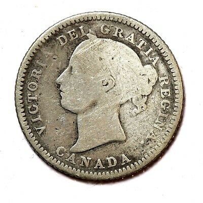Canada Silver 10 Cents 1880-H