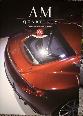 Aston Martin AM Quarterly Winter 2011/12 Vol 45 No.193 Lagonda V8/One-77/Zagato