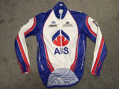 AIS Cycling Jersey Jacket Top Scody BT Australia XS Mens Long Sleeve Like New