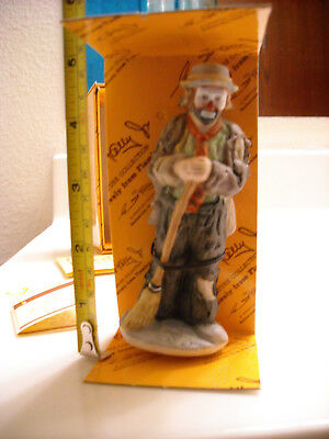 """Emmett Kelly Jr Miniature """"SWEEPING UP"""" 10002 FlambroWith box"""