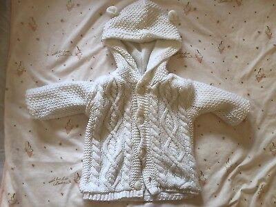 Baby Girls Boys 0-3 Months George Chunky Cardigan Hooded
