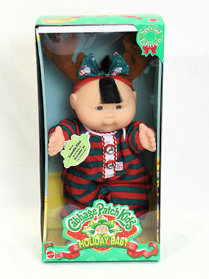 Cabbage patch kids holiday baby doll special edition girl ~ mattel.