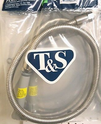 """T&S Brass B-0044-H - 44"""" Flexible Stainless Steel Hose with handle"""