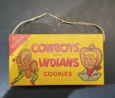 1950's Nabisco cowboy and Indians cookies in opened