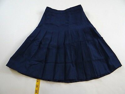 Land's End Girls Navy Blue Pleated Skirt Size 5 NEW
